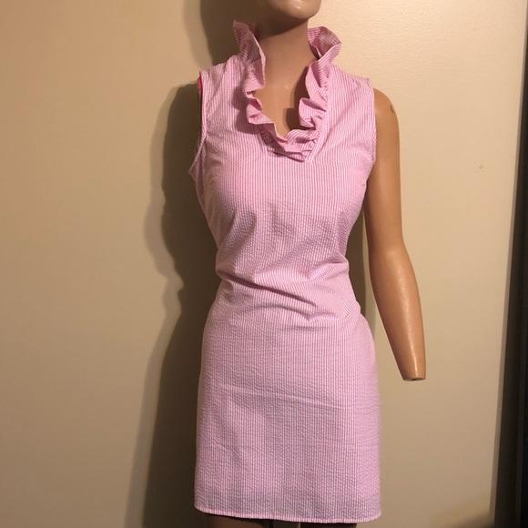 Mud Pie Dresses New Pink White Seersucker Womens Dress Poshmark